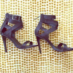 Tibi Satin Luxe Strappy Sandals